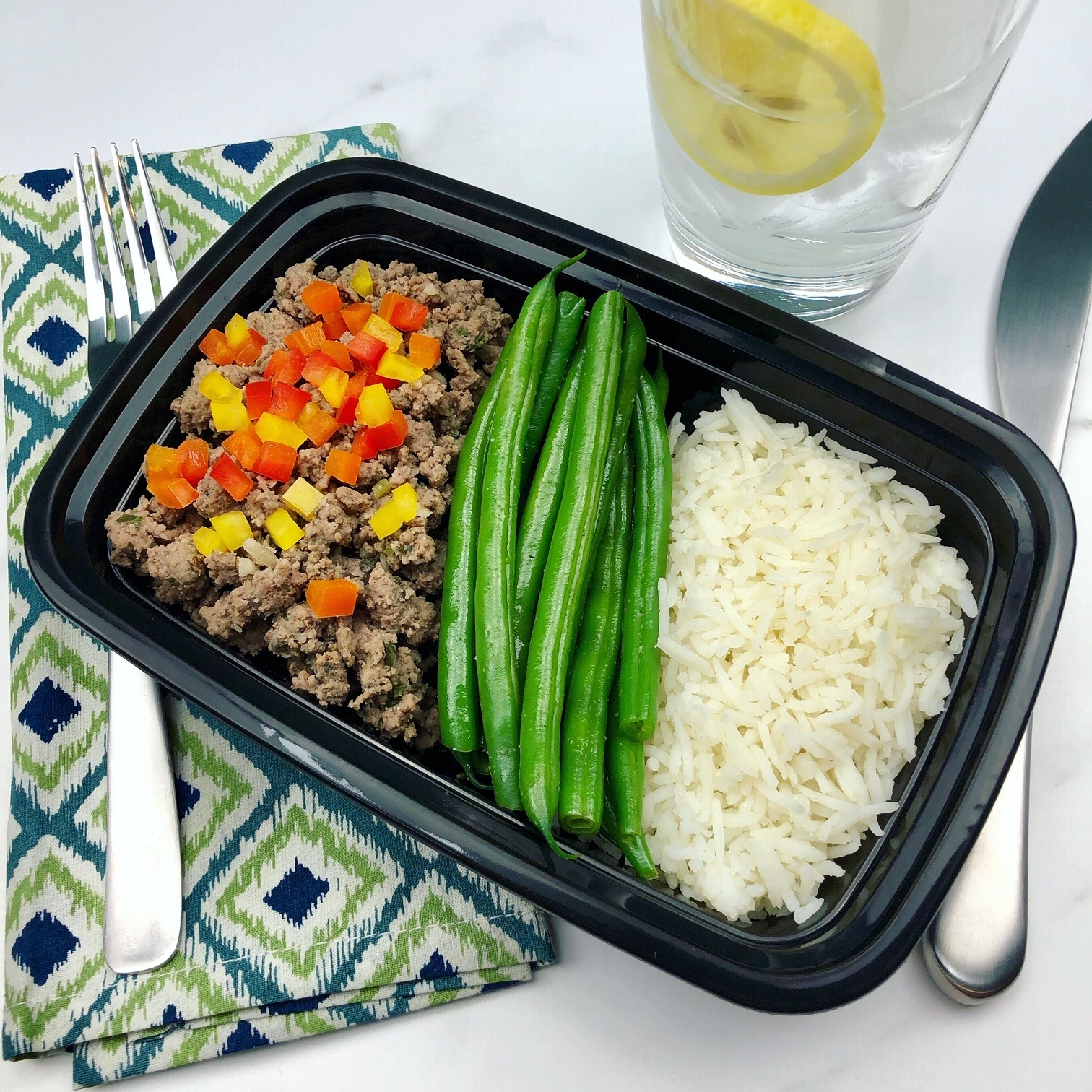 Meal Ideas For Ground Beef: Ground Beef, Green Beans, White Basmati Rice » The