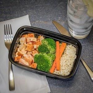 Rotisserie Chicken, Broccoli, Brown Rice