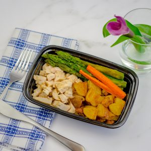 Garlic Herb Chicken, Asparagus, White Potatoes